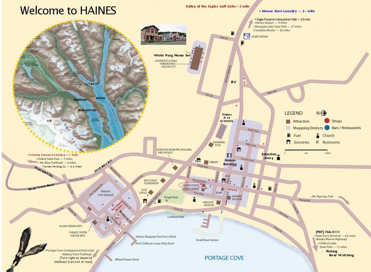 Maps of Haines – Alaska Tourist Map
